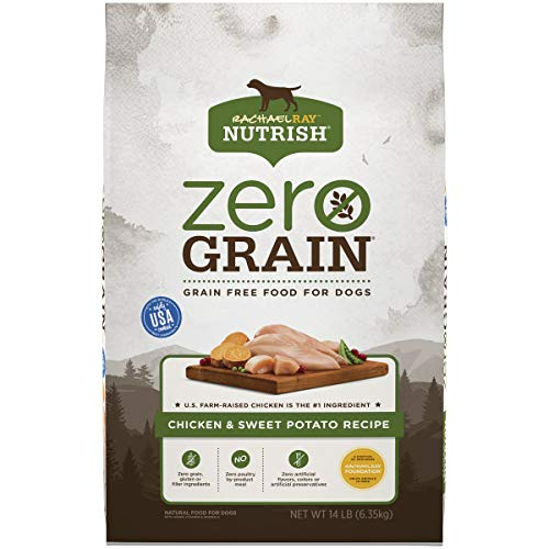 Rachael Ray Nutrish Zero Grain Natural Dry Dog Food, Chicken & Sweet Potato Recipe, 14 Pounds, Grain Free