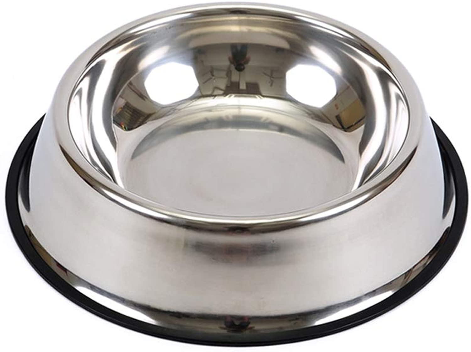 Pets Food Bowl Stainless Steel Dog Bowl, Rubber Base for Small and Medium Dogs, Pet Feeding Bowl and Water Bowl Pet Supplies Pet Diet Water