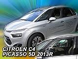 Car Lux AR04396 - Derivabrisas Deflectores de Viento Delanteros y Traseros para C4 Picasso Desde 2013 en adelante