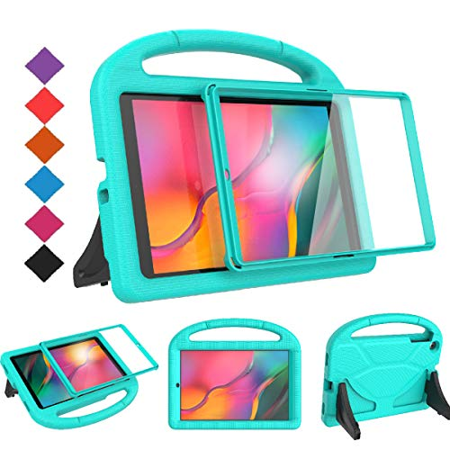 BMOUO Kids Case for Samsung Galaxy Tab A 10.1 (2019) SM-T510/T515 - Built-in Screen Protector, Shockproof Light Weight Handle Friendly Kids Case for Galaxy Tab A 10.1 inch 2019 Release - Turquoise