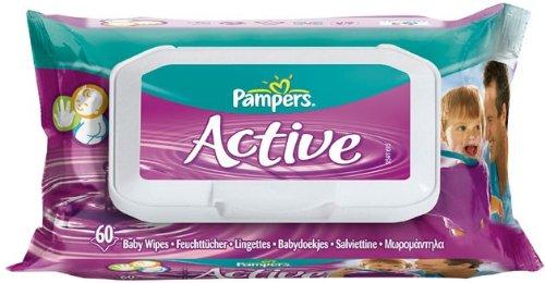 Pampers 81042752 Active - Toallitas de cocina (60 unidades)