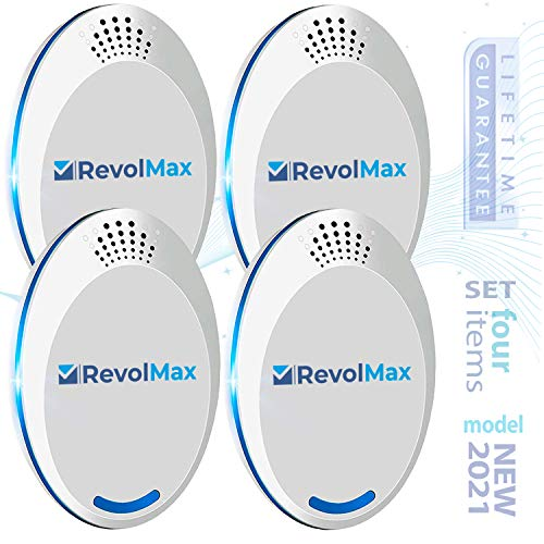 RX-1,(4Pack), Ultrasonic Pest Repeller Wall Plug-in, Most Effective Than Repellents - Get Rid of - Rodents, Squirrels, Mice, Rats, Bats, Roaches, Ants, Spiders, Bed Bugs, Мosquito, Insects, Fleas, Fly