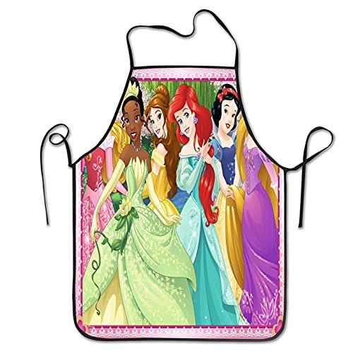 Delantal de princesa Disney para mujer, delantal de cocina, delantal de cocina, delantal de cocina, delantal de piña, delantal de limpieza para cocina, hornear, asar y limpiar el hogar