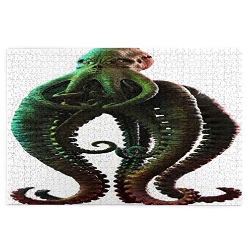 Cute Doormat Green Monster Tentacled Horror Sea Creature Alien Cthulhu 1000 Teile Puzzle für Erwachsene Puzzle 1000 Teile Puzzle für Erwachsene