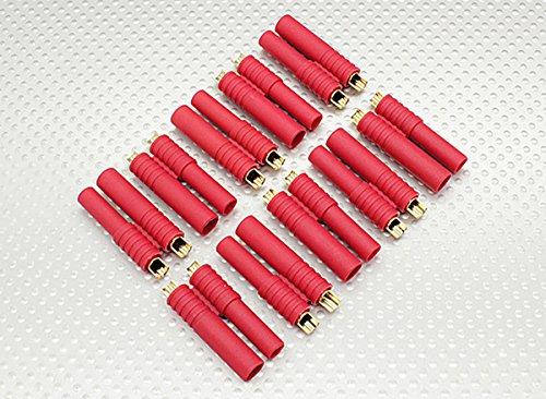 Premium Modellbau Stecker Anschlüsse aus Deutschland von Modellbau Eibl® - Wählen Sie Ihre Variante - EC2 EC3 XT30 XT60 MPX T Dean JST MR30 HXT 2mm HXT 4mm Stecker uvm. (HXT 2mm - 5 Paar)