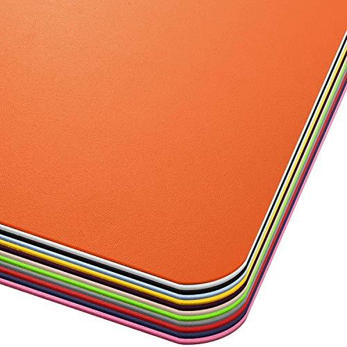 Office Marshal Tappeto Salvapavimento Colorato - Protezione Parquet e Pavimenti Duri - Tappeto Protettivo Sottosedia 100% PP in Vari Colori e Misure - 75x120 cm - Arancione