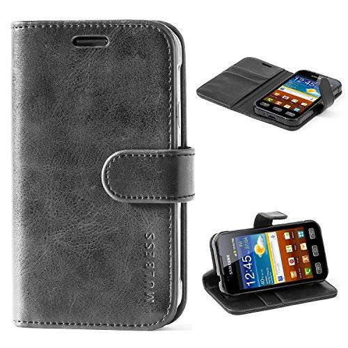 Mulbess Handyhülle für Samsung Galaxy XCover 3 Hülle, Leder Flip Case Schutzhülle für Samsung Galaxy XCover 3 Tasche, Schwarz