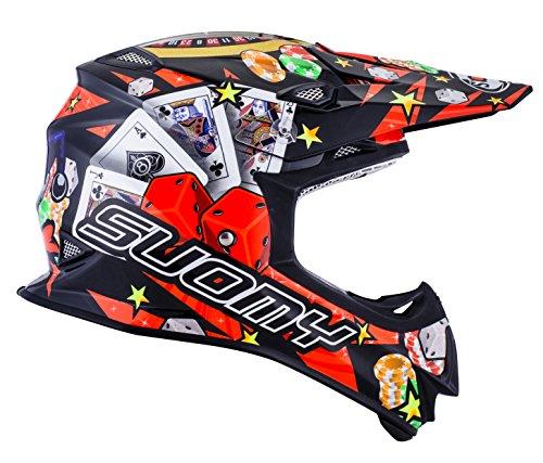 Suomy KSMJ0028.2 Helm für Moto-Cross MR Jump Jackpot, Schwarz