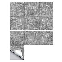 10個のタイルステッカーが移動するモザイクの大理石の石の効果灰色のキッチンバスルームクラフト風セメントタイル壁のステッカー