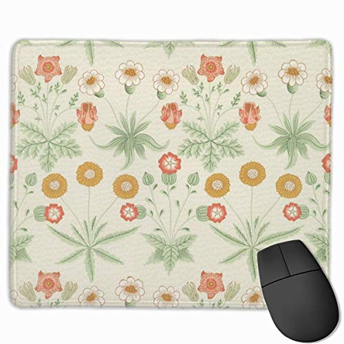 Pretty Herbal Flower Rectangular Non-Slip Gaming Mouse Pad Keyboard Rubber Mouse Pad for Home and Office Laptops 25x30cm