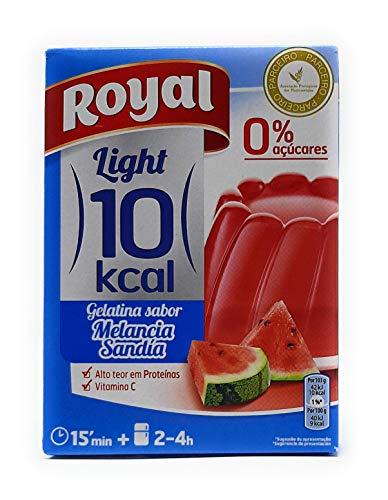 Royal, Gelatina en Polvo, Light, 10 kcal, 0% Azúcar, Sabor Sandía, 31g