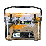 8. Frosted Frog Orange and Black Camo 20 Quart Ice Chest Heavy Duty High Performance Roto-Molded Commercial Grade Insulated Cooler