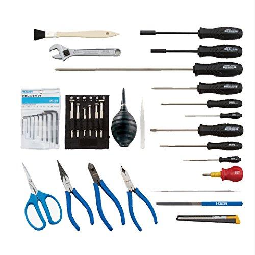 ホーザン(HOZAN) 工具一式 入組36点  工場、学校、研究所の備品や家庭でのDIY、車載工具、防災用に S-241