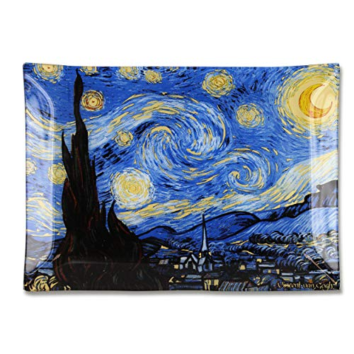 Carmani - Decorative Piastra Rettangolare Stampata con la Pittura Vincent Van Gogh