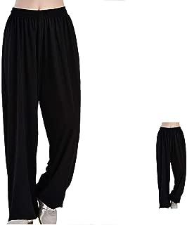CHLXI Pantalones Kung Fu Tai Chi Pantalones Femeninos de Seda de Hielo Pantalones Sueltos de Taijiquan Pantalones de Entrenamiento para Hombres Pantalones (Dos Cargados) Sport Pantalón