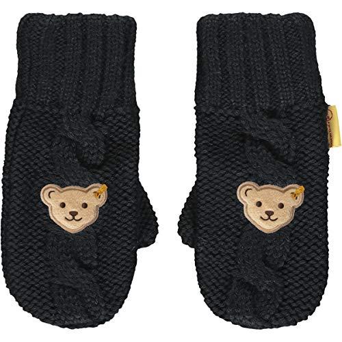 Steiff Mädchen mit süßer Teddybärapplikation Handschuhe, Navy, 020
