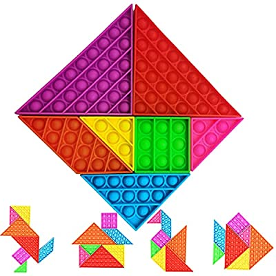 LCKLA Tangram Puzzle Push Bubble Pop Its tangle...