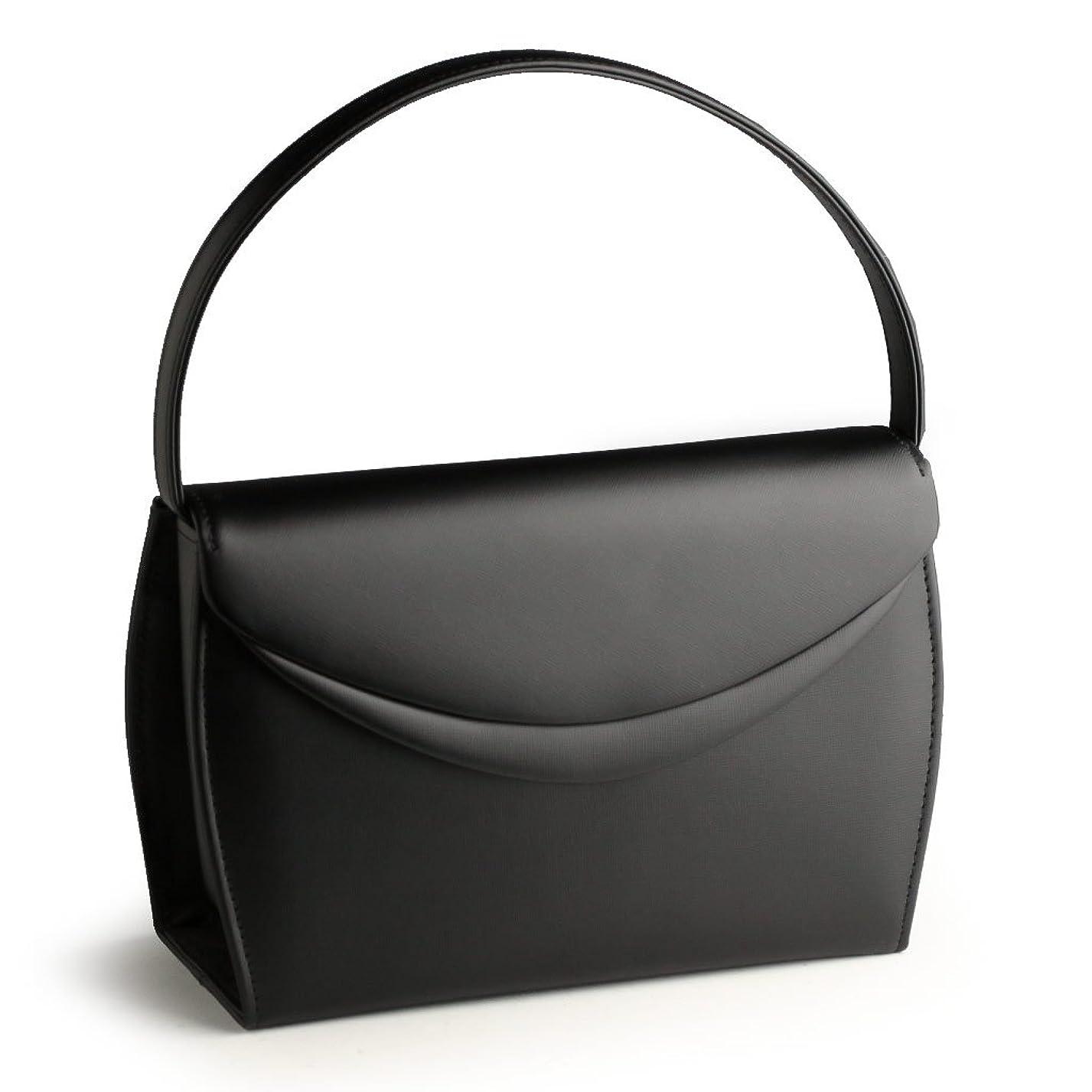 お茶打撃れんが日本製 慶弔両用 本革ブラックフォーマルバッグ