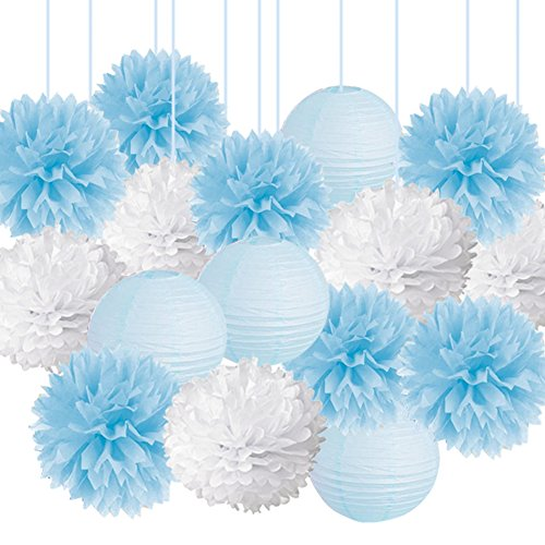 light blue baby decorations - 6