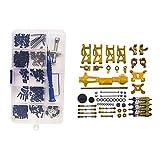 perfeclan 2 Kit 1/14 RC Auto Accs Viti E Dadi Ingranaggi di Ricambio per WLtoys 144001