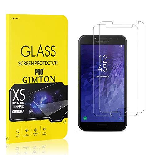 GIMTON Displayschutzfolie für Galaxy J4 2018, 9H Härte, Anti Bläschen Displayschutz Schutzfolie für Samsung Galaxy J4 2018, Einfach Installieren, 2 Stück