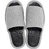 オカ 洗える 健康スリッパ ユニセックス Lサイズ (足のサイズ約24cm〜25cm) (グレー)