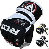 RDX, Guantes de gel MMA UFC lucha, saco de arena, guantes sparring, guantes de entrenamiento, Multicolor (Rojo/Negro/Blanco), talla del fabricante: XL