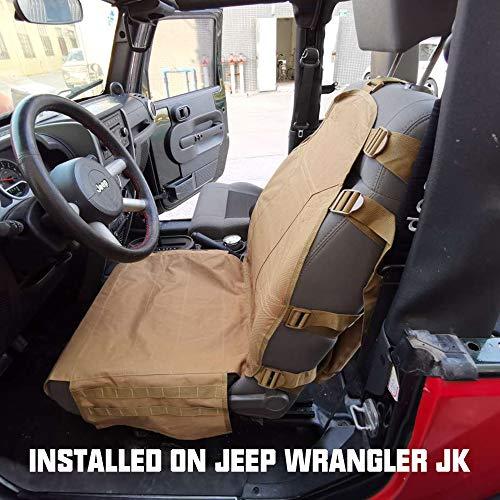 SUNPIE Seat Cover Case for Jeep Cherokee CJ YJ Rubicon Ridgeline Toyota Chevy Organizer Storage Muti Compartments Holder Pockets (1PC)