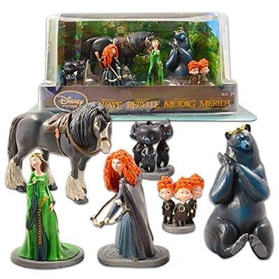 Disney Brave Figure Set Brave Toy Bundle - 6 Piece Disney Brave Toys for Kids Boys Girls Featuring Merida, Bears, and More