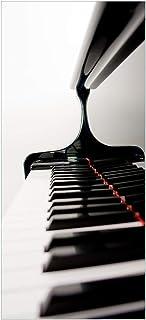 Wallario Selbstklebende Türtapete mit Schutzlaminat, Motiv: Klaviatur von rechts   Größe: 93 x 205 cm in Premium Qualität