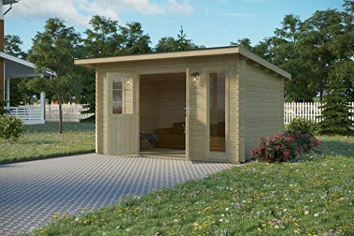 Vikträ PLACAS II 40 ISO - Caseta de jardín (400 x 300 cm, 40 mm, madera)