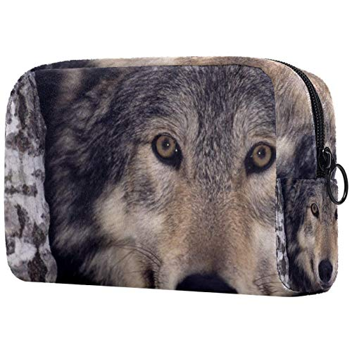 Muttertagsgeschenk Kosmetiktasche Make-up-Taschen für Frauen, kleine Make-up-Tasche Reisetaschen für Toilettenartikel - Predator Wolf