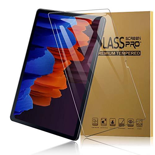 TOPACE 2 Stück Schutzfolie für Samsung Galaxy Tab S7+ Panzerglas, Ultra-HD Vollschutz-mit Ultra-Stärke Glas Blasenfrei Anti-Kratzer Anti-Öl Gehärtetes Glas Displayschutz für Samsung Galaxy Tab S7 Plus