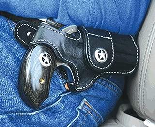 Bond Arms Leather Driving Holster Black W/Star RH Snake Slayer/Ranger II