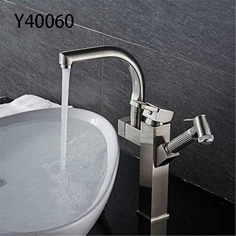Y40059 60 Küchenarmatur mit 2 Ausgngen, ausziehbar, Chrom, poliertes Finish Brushed Y40060