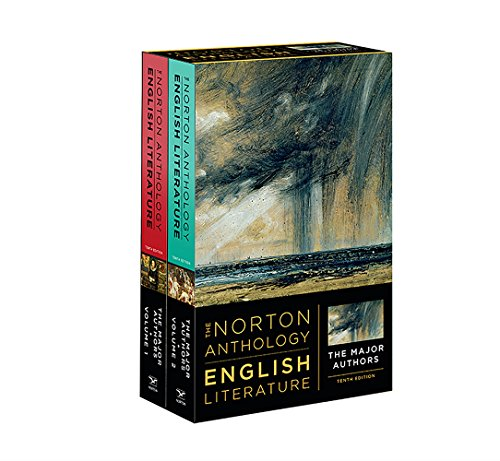 Compare Textbook Prices for The Norton Anthology of English Literature, The Major Authors Tenth Edition ISBN 9780393603118 by Greenblatt, Stephen