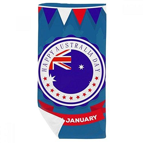 DIYthinker Australia Australia Sabor Feliz Día de la Bandera Toalla de baño Suave paño de Facecloth 35X70Cm