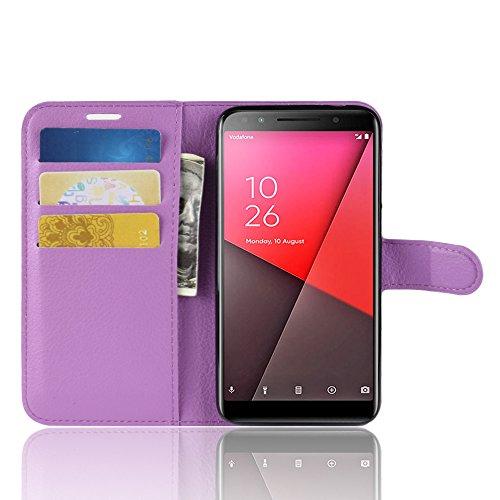XINKO Vodafone Smart N9 Funda, [Diseño Durable] Wallet Case Cover Funda, Vodafone Smart N9 Carcasa con Ranura de Tarjeta Cierre Magnético y función de Soporte para Vodafone Smart N9, Púrpura