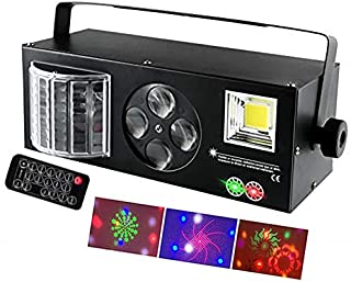 Party Stage Light با 4 تابع 1 (Strobe / Butterfly / الگوهای / سبز-قرمز) کنترل شده توسط Remote و DMX برای Club Disco Wedding Bar DJ