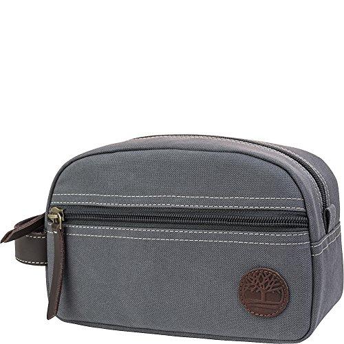 Timberland Men's Canvas Zipper Classic Travel Kit Grey
