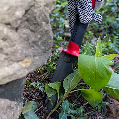 Radius Garden 17211 Root Slayer Soil Knife with Holster, Red