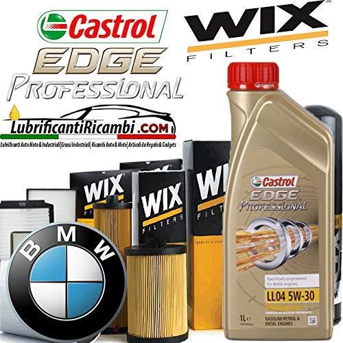 C Kit TAGLIANDO con 6 Litri Olio Motore CASTROL Edge 5W30 ll04 Titanium Professional Fst+ 4 FILTRI Originali Wix Filters (WL7303 WF8314 WA6573 WP9003)