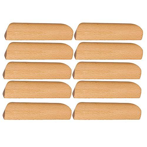 BQLZR - Tirador de madera para armario, armario, cajón, cajón, 10 unidades, 96 mm