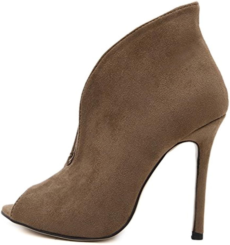 YMFIE Im europäischen Stil Komfortable Wildleder dünn mit Sexy Hohlen ausgehöhlten Stiefel Sommer Damen Sandalen    Verschiedene Waren    Neue Sorten werden eingeführt    Deutschland Shops