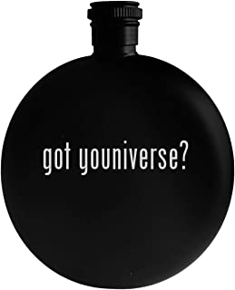 got youniverse? - 5oz Round Alcohol Drinking Flask, Black