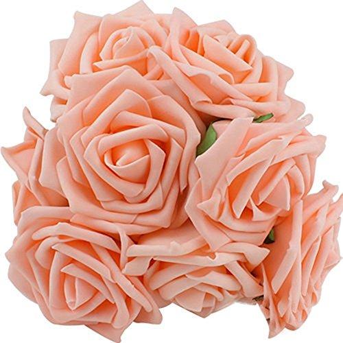 ZTTLOL 11 Farben 10 Köpfe Von 8 cm Künstliche Rosa Blumen Hochzeit Brautstrauß Pe Schaum Valentinstag Home Decor DIY Rose Blumen