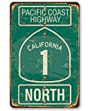 Metal Sign - Pacific Coast Highway - California 1 - Durable Metal Sign - 8' x 12' Use Indoor/Outdoor - Great Gift and Decor Under $20