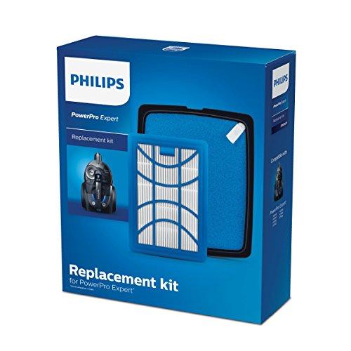 Philips FC8003/01 Ersatz-Filterset für Staubsauger ohne Beutel weiß