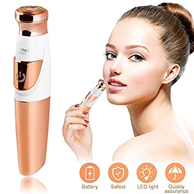 SaponinTree Facial Hair Remover for Women, Portable Painless Flawless Electric Hair Trimmer, Waterproof Shaver for Face Lip Armpit Chin Cheek Neck Arm by Shenzhen Little Saponin Technology Co.Ltd