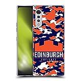 Head Case Designs Licenciado Oficialmente Edinburgh Rugby Camuflaje Logotipo 2 Carcasa de Gel de Silicona Compatible con LG Velvet / 5G
